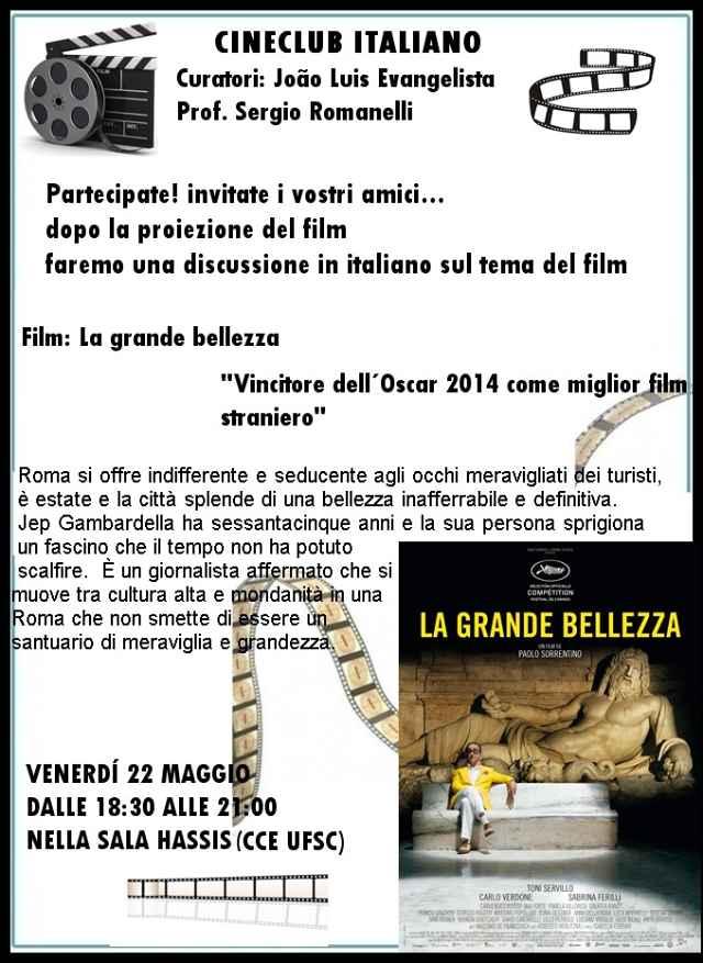 """Cineclub Italiano apresenta """"La grande bellezza"""" (2013)"""