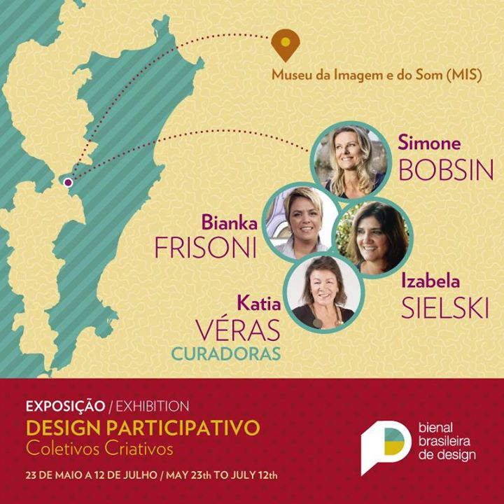 """Exposição """"Design participativo – coletivos criativos"""" - Bienal Brasileira de Design"""