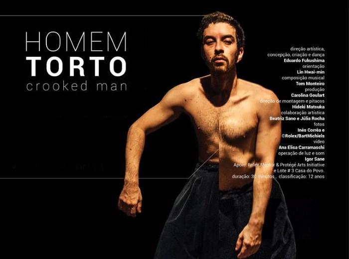 Homem Torto, solo de dança de Eduardo Fukushima - 8° Múltipla Dança