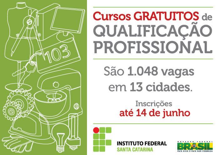 Inscrições para 1.048 vagas em cursos gratuitos de qualificação