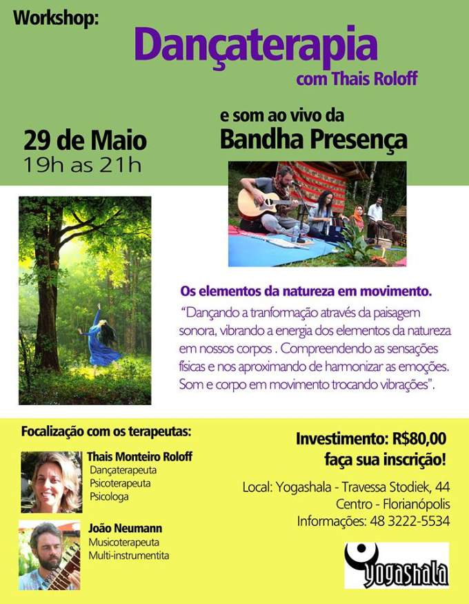 Workshop de Dançaterapia, com Thais Roloff