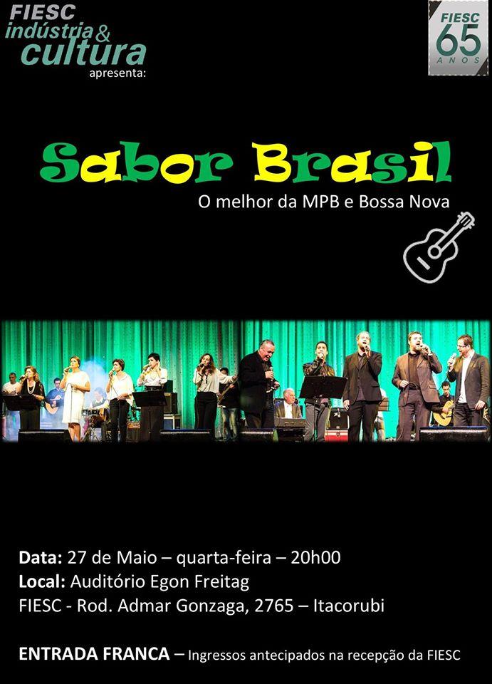Show da banda Sabor Brasil - FIESC Indústria e Cultura