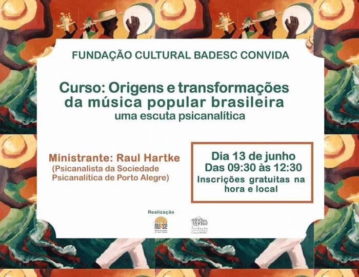 Curso gratuito sobre origens e transformações da Música Popular Brasileira