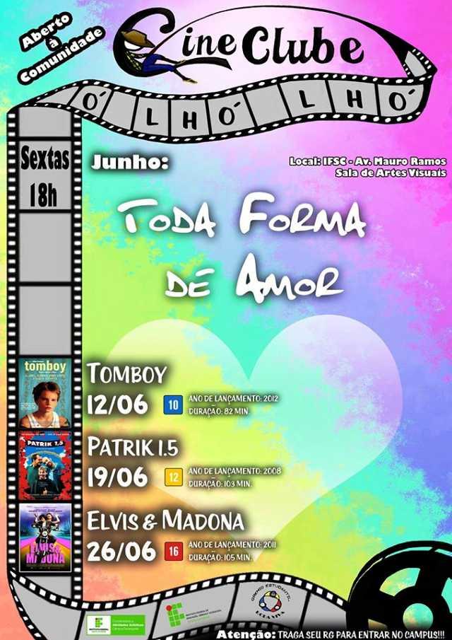 Ciclo Toda Forma de Amor - programação de junho do Cineclube Ó Lhó Lhó