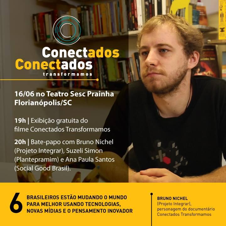 """Exibição de documentário """"Conectados Transformamos"""""""
