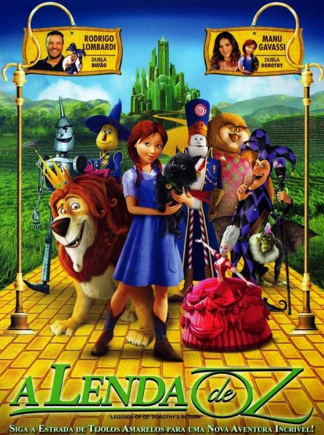 "Sessão gratuita do filme ""A Lenda de Oz"" no Sábado Animado"