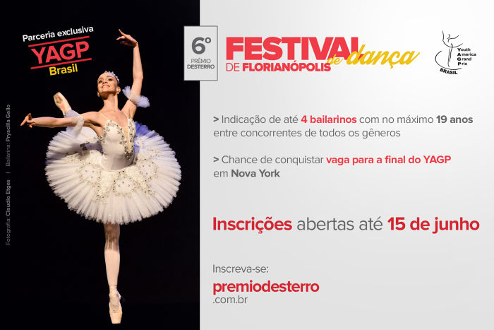 Prêmio Desterro 2015 selecionará bailarinos para o YAGP Brasil