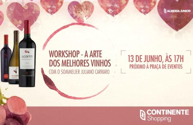 Workshop de vinhos gratuito recebe inscições