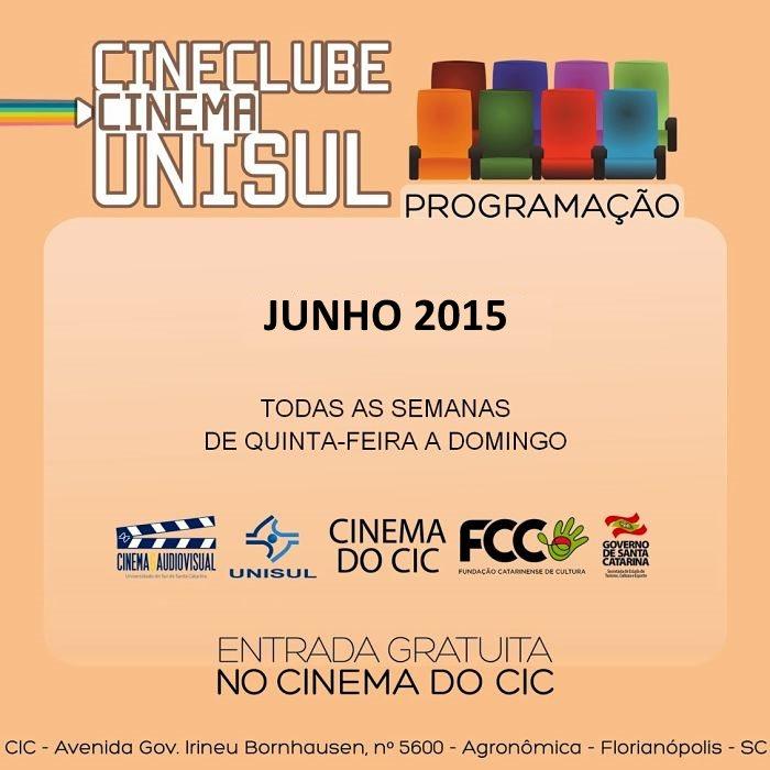 Cinema do CIC - Programação do mês de junho