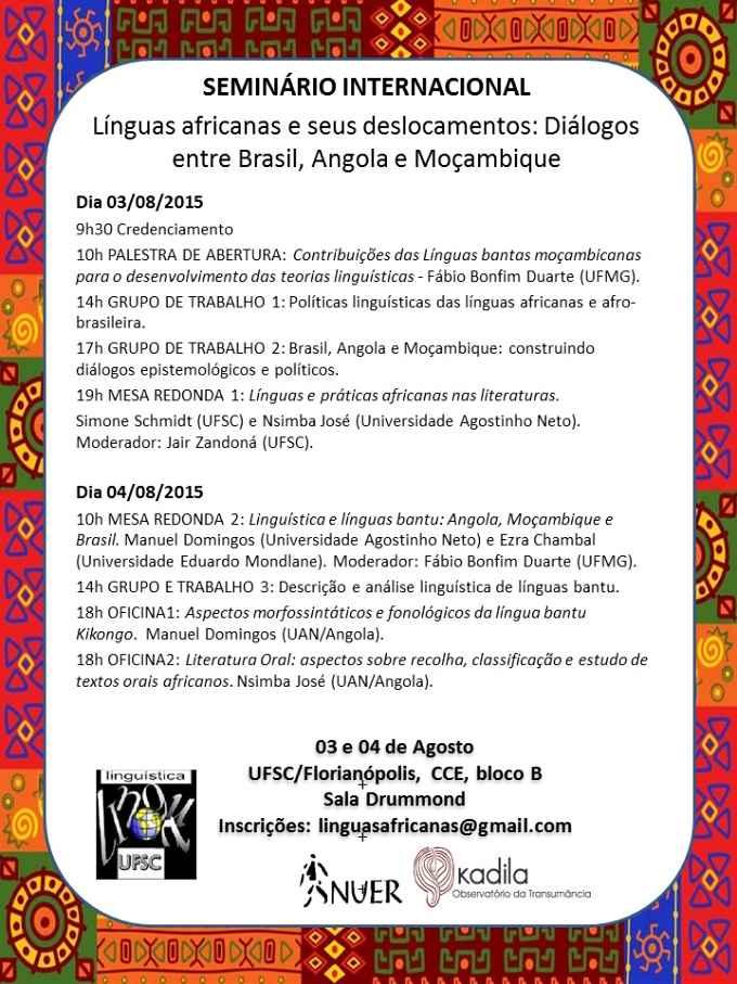 Seminário Internacional de Línguas Africanas