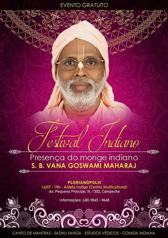 Festival Indiano com a presença do Monge S. B. Vana Maharaj