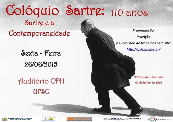 Colóquio Sartre: 110 anos - Sartre e a Contemporaneidade