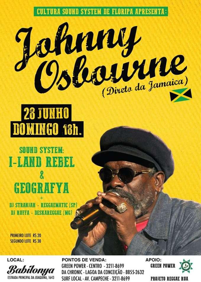 Grande nome da música jamaicana Johnny Osbourne faz show em Florianópolis