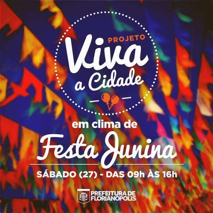 Viva a Cidade edição Junina com Food Truck, bandas de forró e aula de dança