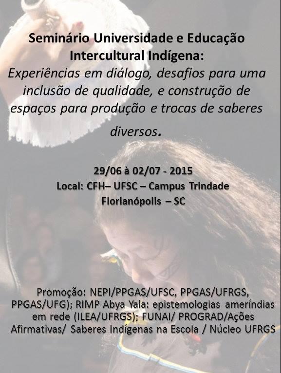 Seminário Universidade e Educação Intercultural Indígena