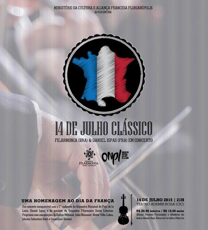 Concerto em homenagem ao Dia da França com Orquestra Filarmonia e Daniel Ispas