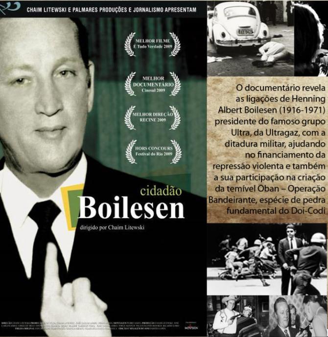 """Cine Sesc especial Ditadura exibe """"Cidadão Boilsen"""", de Chaim Litewski"""