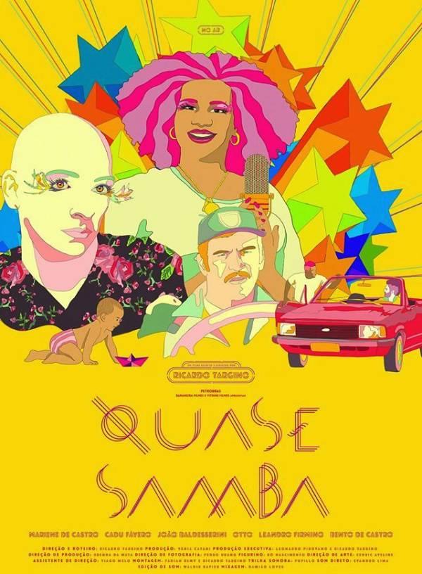 """Exibição do filme """"Quase Samba"""", dirigido por Ricardo Targino"""
