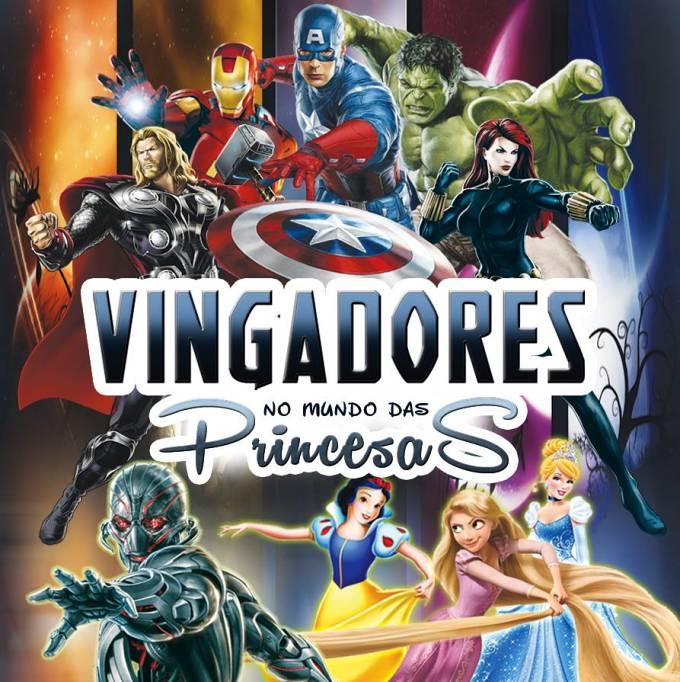Heróis Vingadores no Mundo das Princesas
