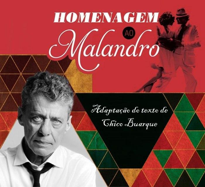 """Estreia da peça """"Homenagem ao Malandro"""", adaptação do texto de Chico Buarque"""