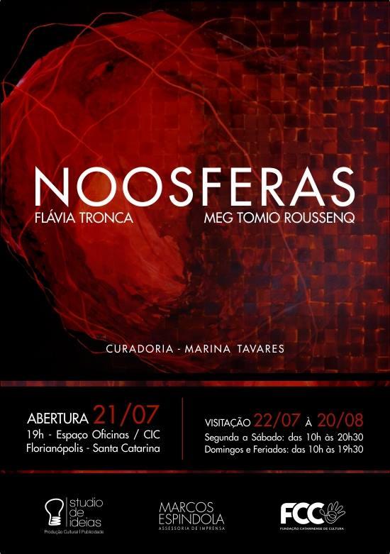 Exposição Noosferas, de Flávia Tronca e Meg Tomio Roussenq