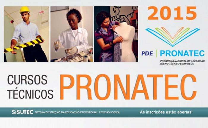 Inscrições abertas para cursos técnicos gratuitos pelo Pronatec