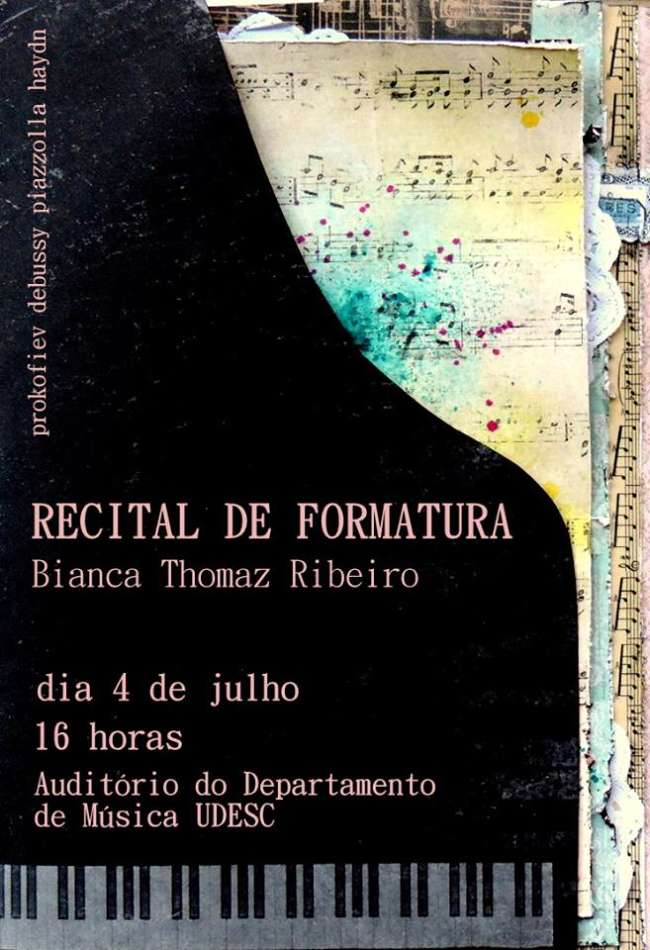 Recital de Formatura do Bacharelado em Piano de Bianca Thomaz Ribeiro
