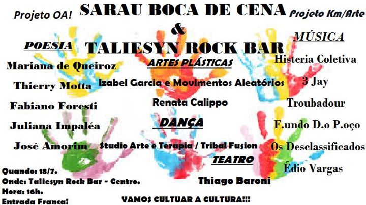 Sarau Boca de Cena no Taliesyn Rock Bar