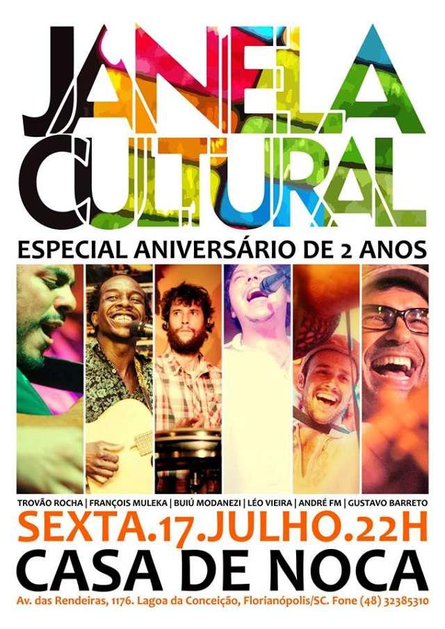 Comemoração de 2 anos de Janela Cultural na Casa de Noca
