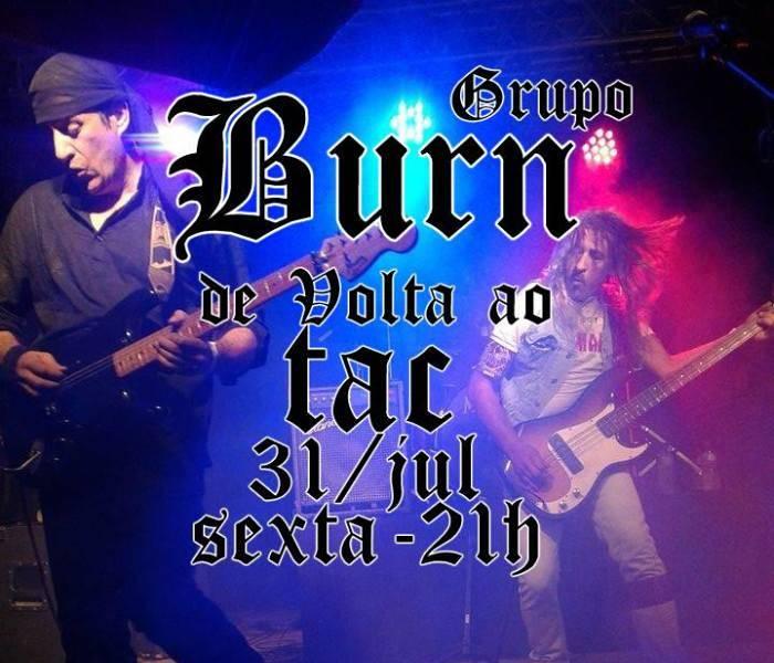 Show de lançamento de CD do grupo Burn e convidados