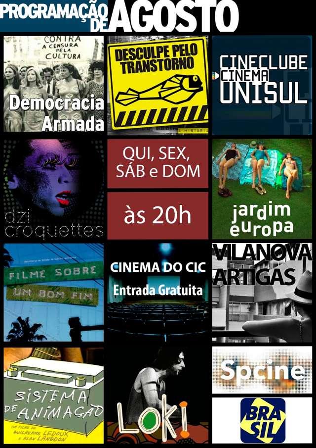 Cinema do CIC - Programação do mês de agosto