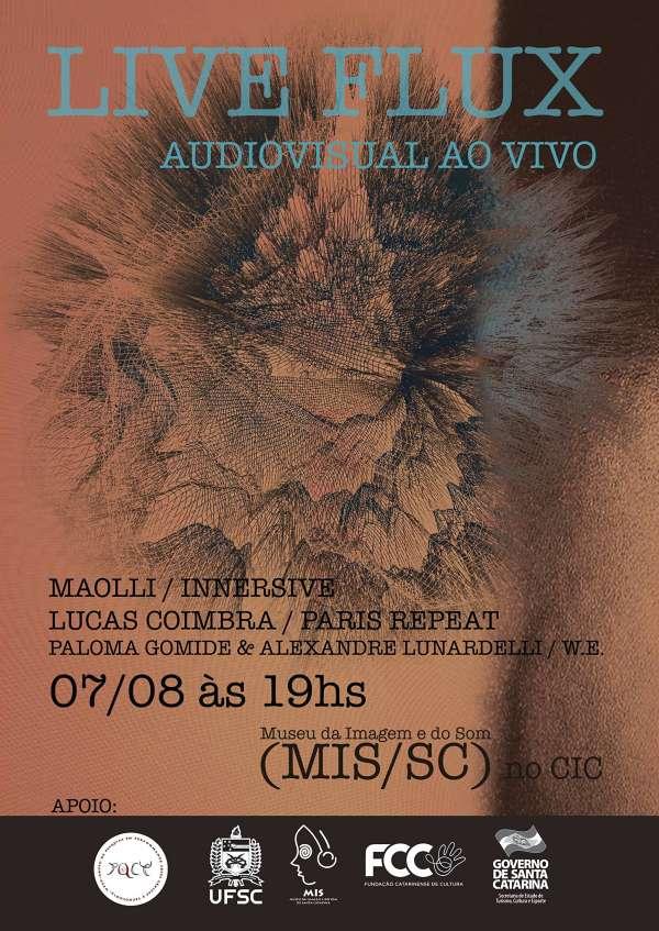 """Performance gratuita de live cinema """"Liveflux - Audiovisual ao Vivo"""""""