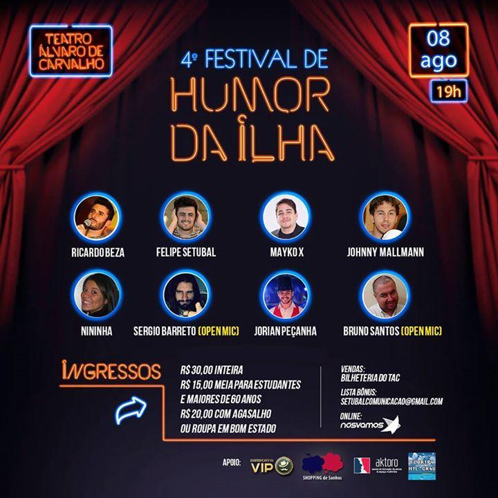 4º Festival de Humor da Ilha – Rindo Pra Ajudar