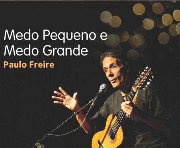 """O espetáculo infantil """"Medo Pequeno e Medo Grande"""", com o violeiro e contador de histórias Paulo Freire"""