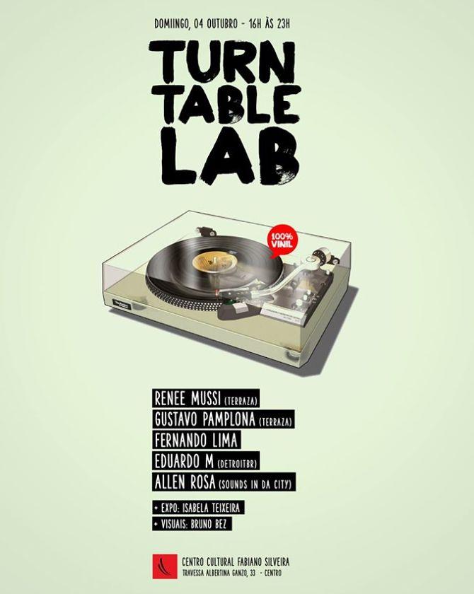 """Sounds in da City - Turntable Lab, projeções visuais e exposição """"Abstrato Supernova"""""""