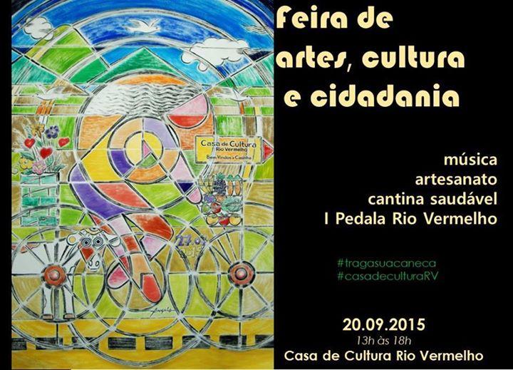 Feira de Artes, Cultura e Cidadania promove o 1º Pedala Rio Vermelho