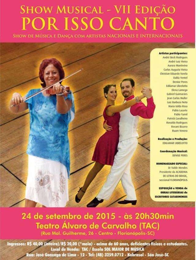 Show Musical Por Isso Canto - VII edição