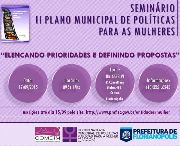 Seminário do II Plano Municipal de Políticas para as Mulheres