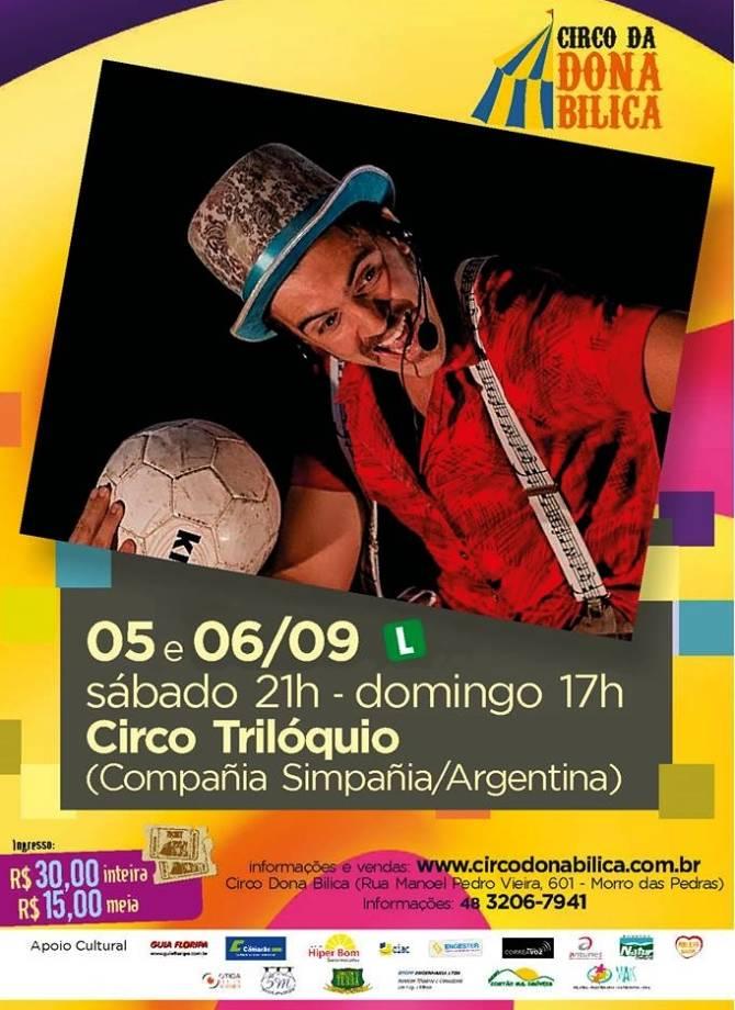 """Espetáculo Circense """"La Conquistación"""" da Compañía Simpañía / Circo Triloquio (Arg)"""