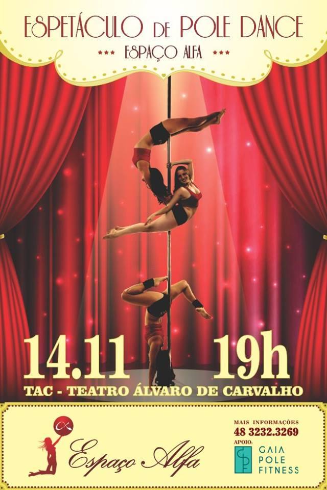 Espetáculo de Pole Dance, do Espaço Alfa