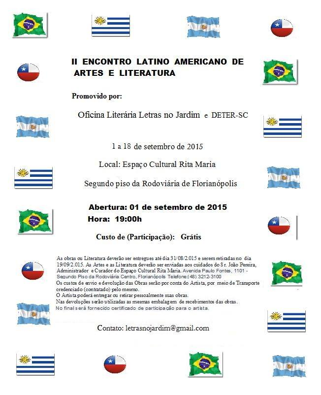 II Encontro internacional de Artes e Letras