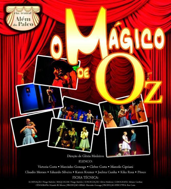 """Espetáculo """"O Mágico de Oz"""" da Cia Teatral Além do Palco"""