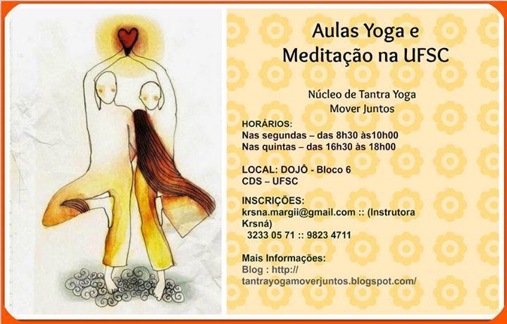 Inscrições abertas para aulas de yoga e meditação na UFSC 2015/2