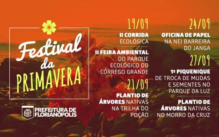 Festival da Primavera Floram: corrida ecológica, plantio de mudas, feira ambiental e picnic