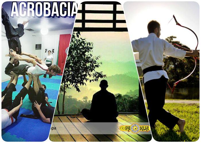 Quatro aulas gratuitas de Arqueria, Yoga e Acrobacia