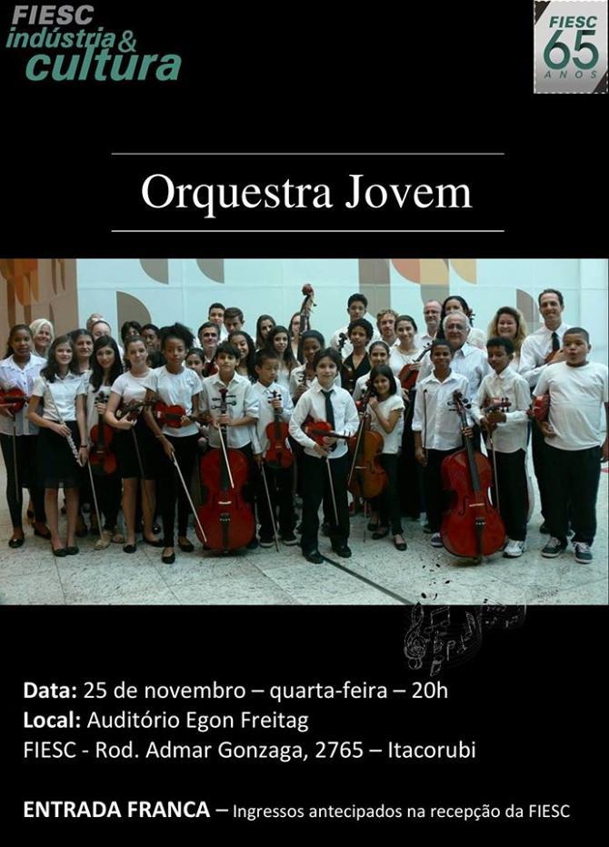Concerto gratuito da Orquestra Jovem - FIESC Indústria e Cultura