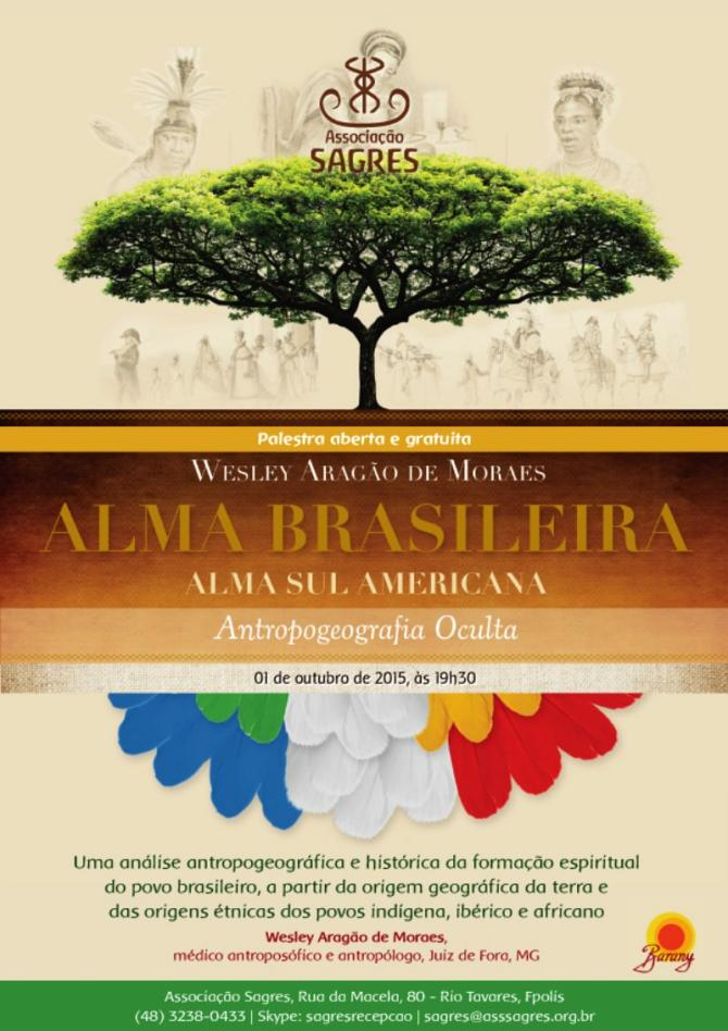 "Palestra gratuita ""Alma Brasileira"""