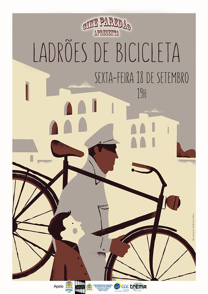 """Cine Paredão apresenta """"Ladrões de Bicicleta"""""""