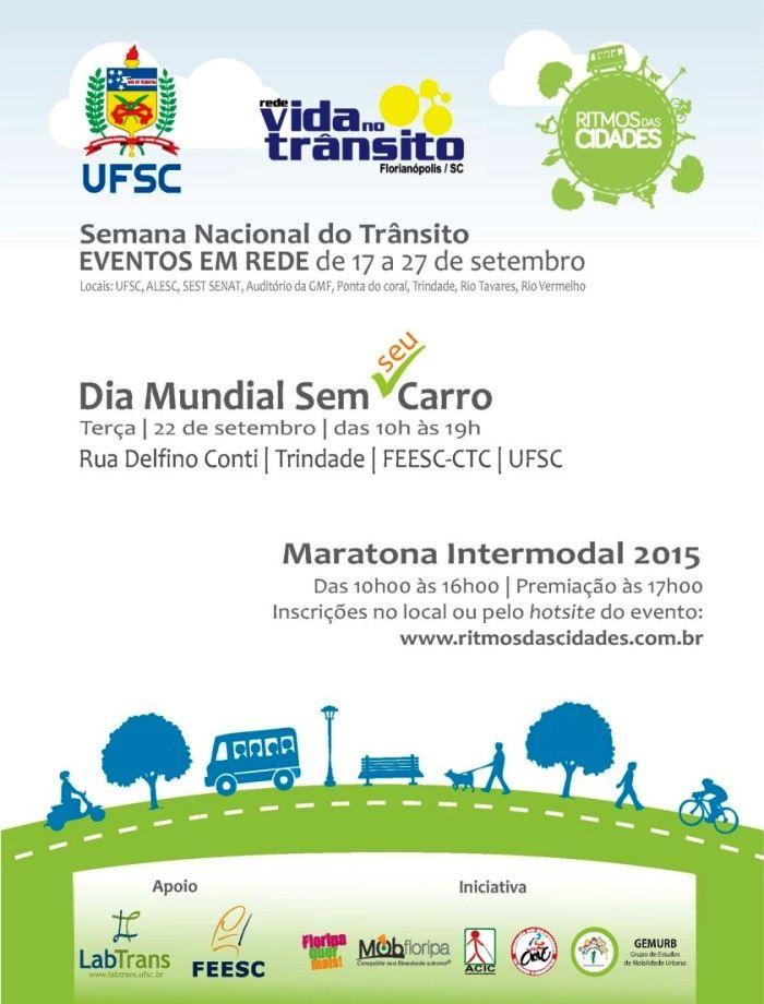 Semana Nacional do Trânsito: Dia Mundial Sem Carro, Maratona Intermodal, oficinas e pedaladas