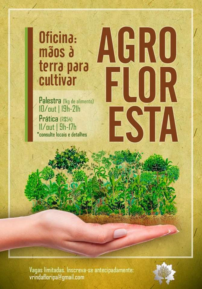 Palestra gratuita e oficina prática de Agrofloresta: Mãos à Terra!
